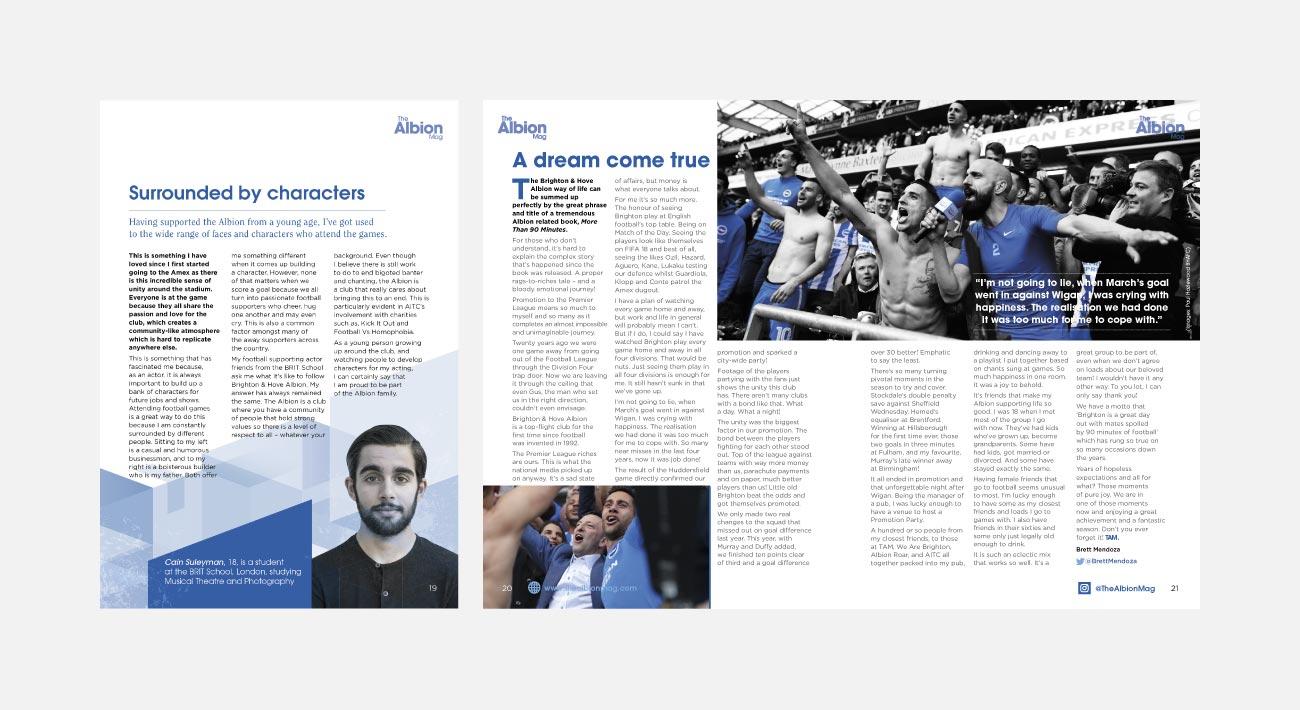 The Albion Mag Magazine Design   John Shannon   Graphic Designer   Brighton
