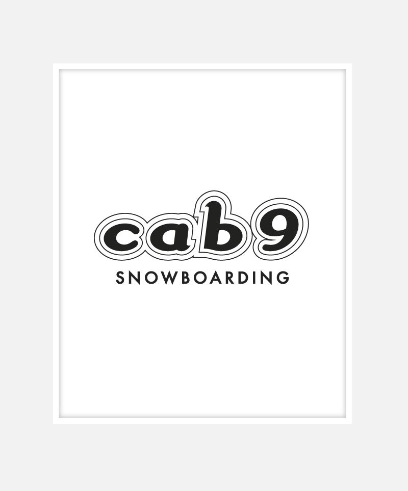 Cab9 Snowboarding Logo Identity Design | John Shannon | Graphic Designer | Brighton