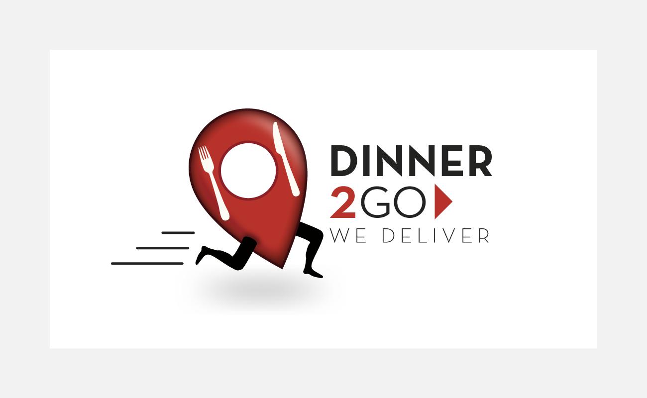 Dinner2Go Logo Identity Design | John Shannon | Graphic Designer | Brighton