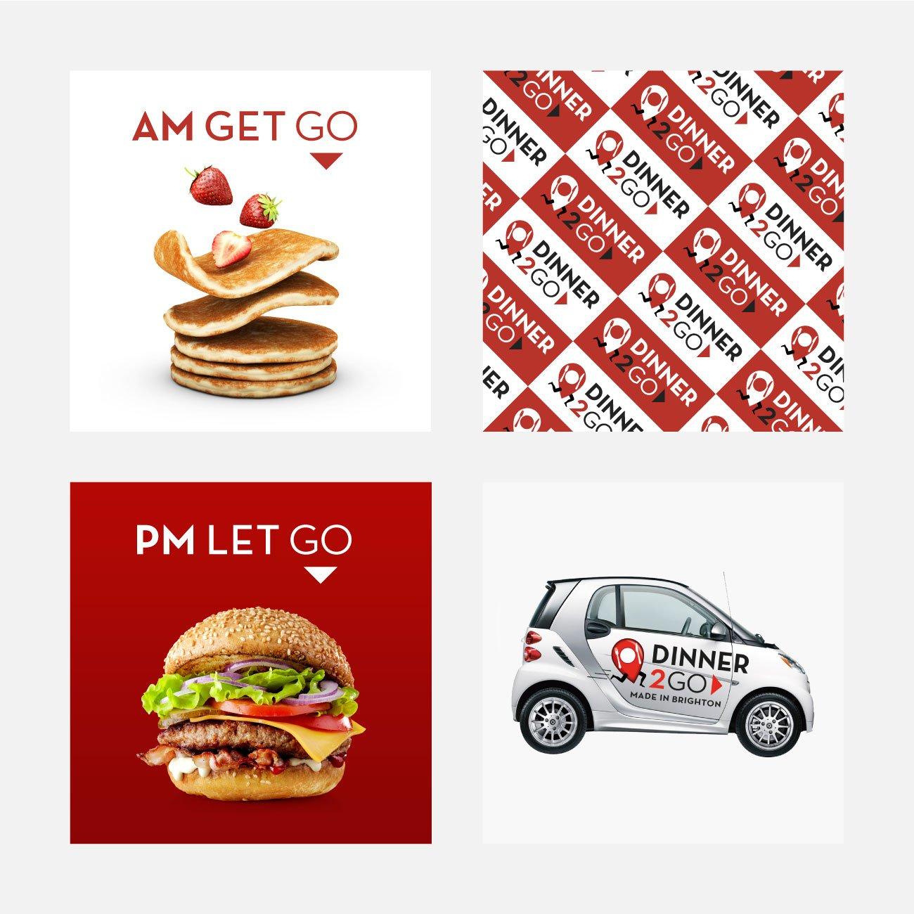 Dinner2Go Branding | John Shannon | Graphic Designer | Brighton