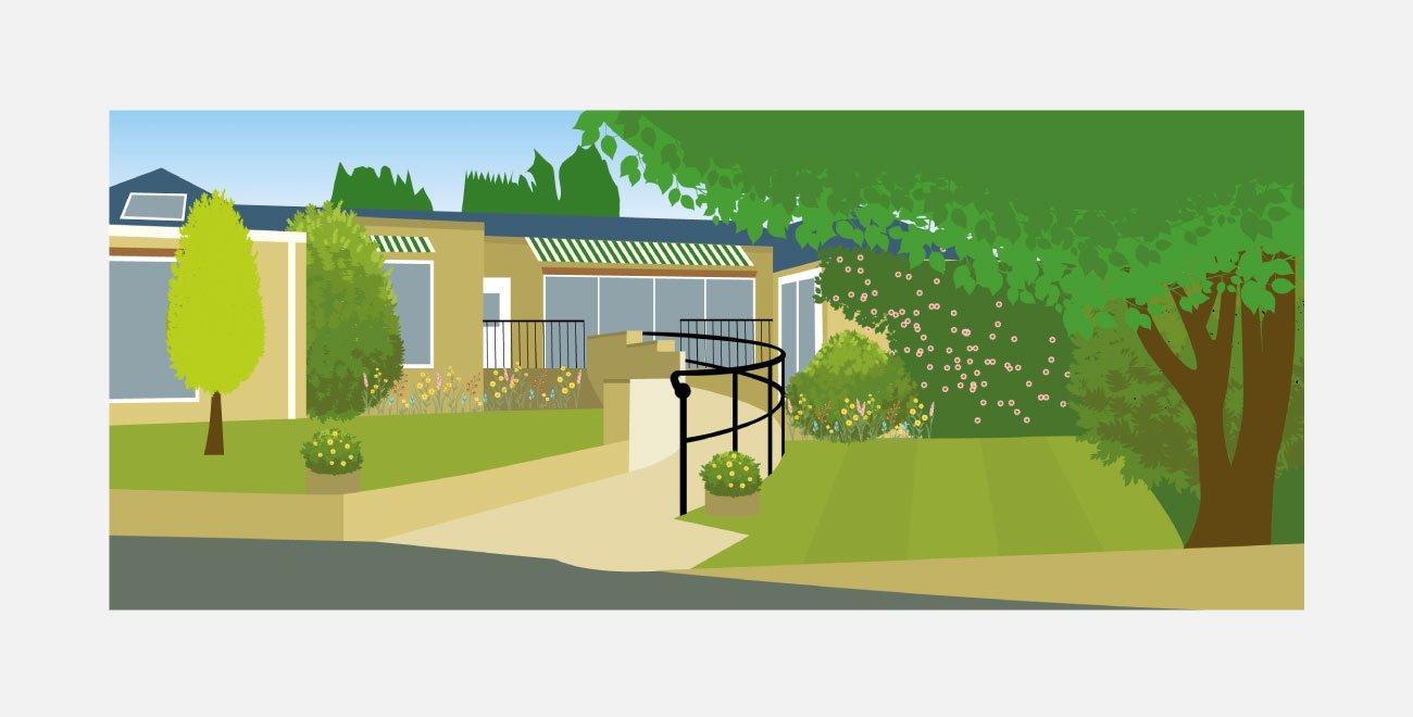 Garden House Illustration   John Shannon   Graphic Designer   Brighton