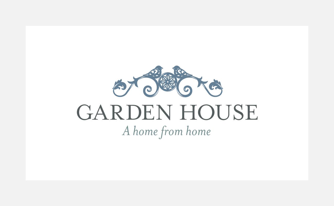 Garden House Logo Identity Design   John Shannon   Graphic Designer   Brighton