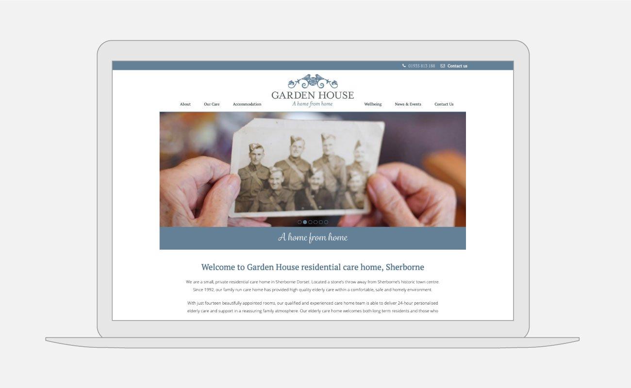 Garden House Website Design   John Shannon   Web Designer   Brighton