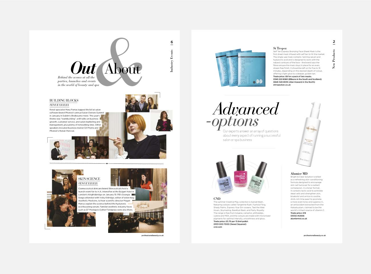 Professional Beauty Magazine Design   John Shannon   Graphic Designer   Brighton
