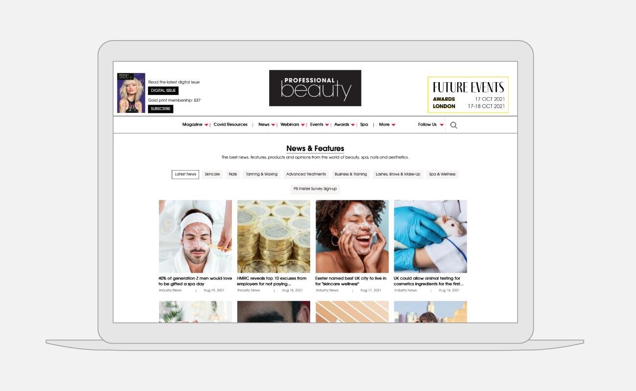 Professional Beauty Website Design   John Shannon   Web Designer   Brighton