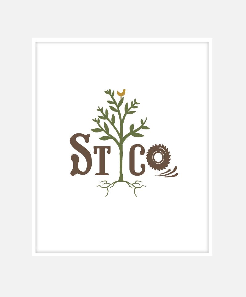 Sussex Timber Co Logo Identity Design | John Shannon | Graphic Designer | Brighton