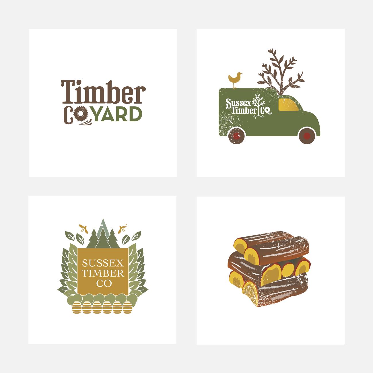 Sussex Timber Co Branding   John Shannon   Graphic Designer   Brighton