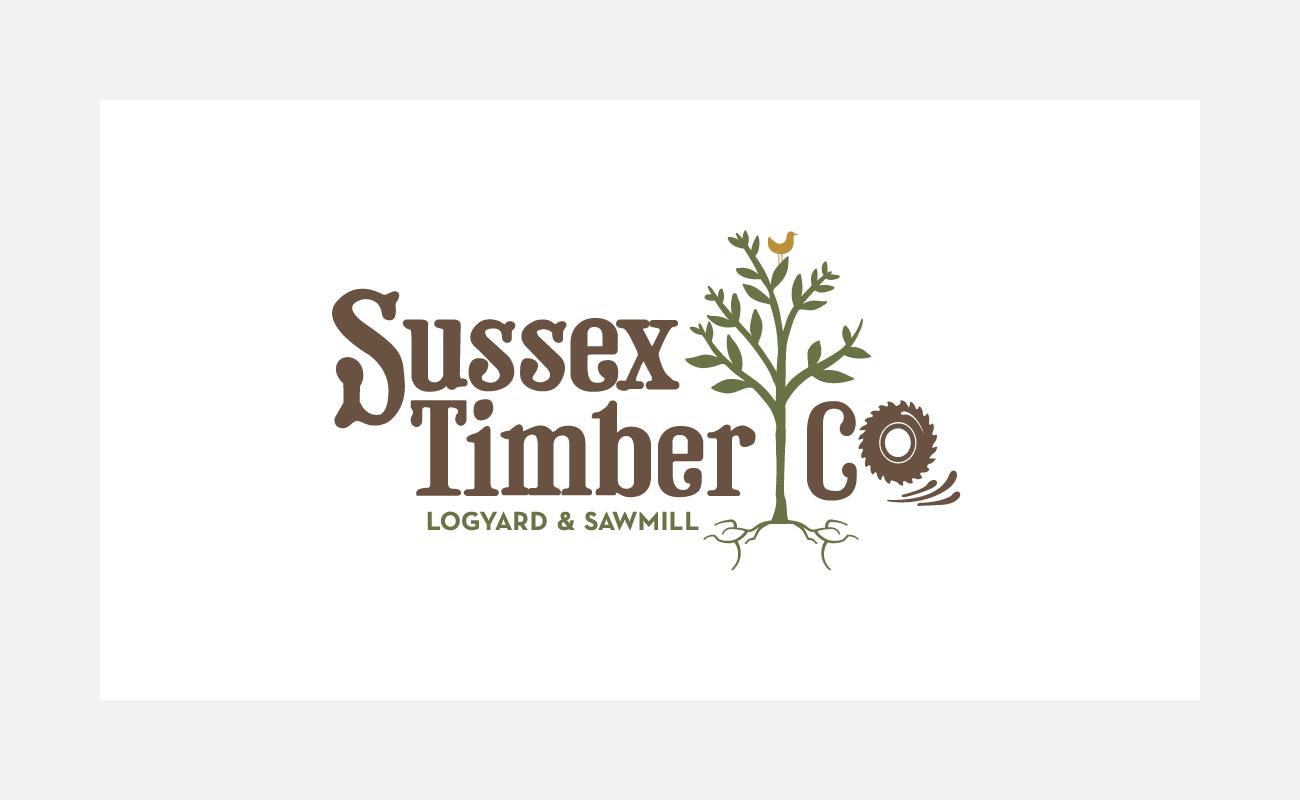Sussex Timber Co Logo Identity Design   John Shannon   Graphic Designer   Brighton