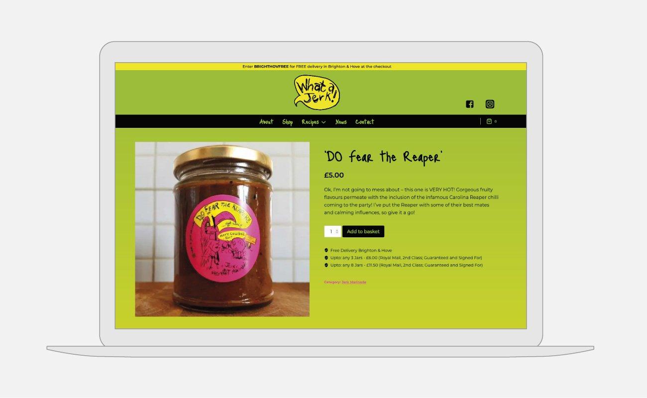 What a Jerk! Website Design | John Shannon | Web Designer | Brighton